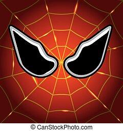 mask superhero Spiderman - Mask superhero Spider-Man, vector...