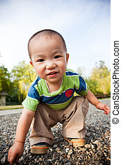 Asian boy - A portrait of a cute asian boy outdoor
