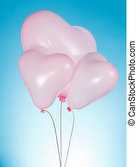 Heart shaped party balloons