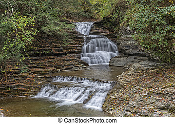The Lower Falls At Robert H Treman State Park - The Lower...