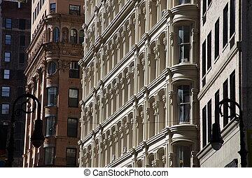 Building Facade - New York city building classic old facade