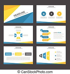 Blue yellow presentation templates - Blue yellow...