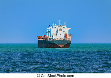 Bulk Carrier Goes out to the Open Sea