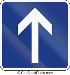 Slovenian regulatory road sign - One-way road