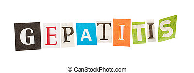 inscripción, gepatitis, De, el, Recorte, letters, ,