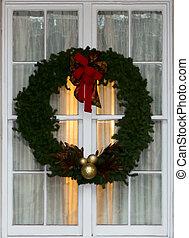 Christmas Wreath on Window