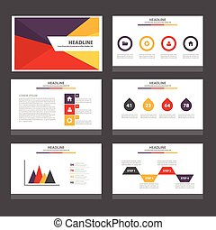 Red Yellow presentation templates - Red Yellow purple...