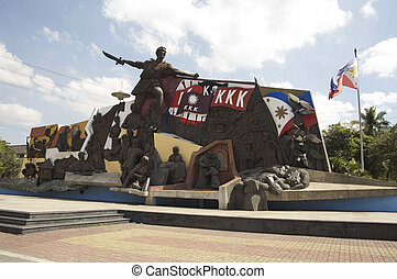 K K K monument Katipunan, Bonifacio mural Metro Manila, the...