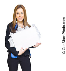 Financial Planning - Happy Business Person Holding A Case...