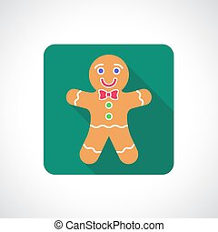 Christmas Gingerbread Cookie icon Infographic symbol with...