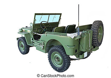 Jeep - American military jeep Willys - model of the 1940s...