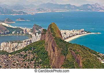 Scenic Rio de Janeiro Aerial View
