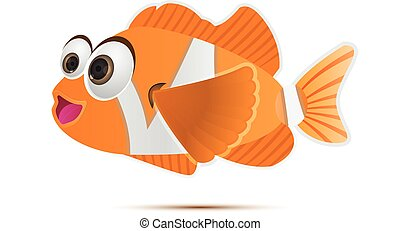 Anemone Clownfish - Vector illustration of cute anemone...