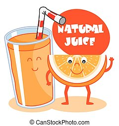 orange, jus, naturel