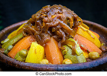 Tajine moroccan typical dish - typical berber or north...