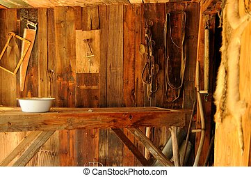Old Homestead - Interior of an old cabin or homestead