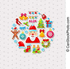 New Year Traditional Colorful Elements - Illustration New...