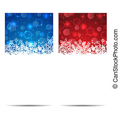 Christmas snowflakes banners with light effect -...