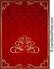 Christmas ornate frame