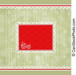 ornamentale, elementi, Scheda, disegno,  retro, Natale