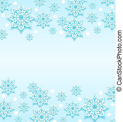 Abstract winter background with snowflakes - Illustration...
