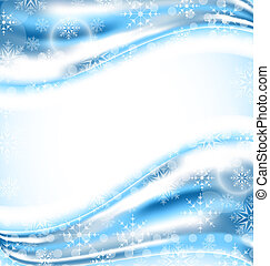 Cute winter wallpaper with snowflakes - Illustration cute...