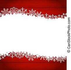Christmas frame made of snowflakes with copy space for your...