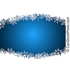 New Year background made in snowflakes, copy space for your...