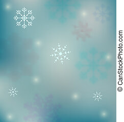 Holiday winter background with snowflakes - Illustration...