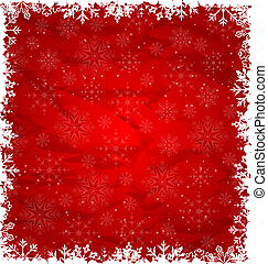 Christmas Border Made in Snowflakes