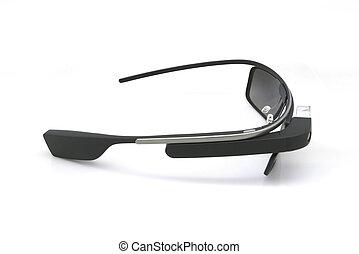 Google glass portable computer display