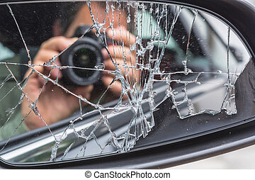 Man photographed from the car