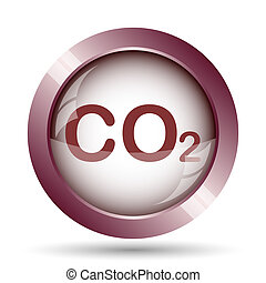 CO2 icon Internet button on white background