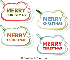 Merry christmas stickers. creative concept vector background for Web and Mobile Applications, Happy New Year. Illustration template design, holiday infographic, page, banner.