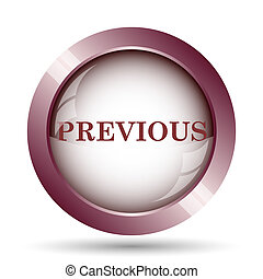 Previous icon Internet button on white background