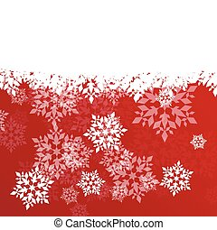 Winter background white snowflakes falling Christmas and New...