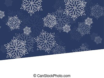 Winter night background white snowflakes falling Christmas...