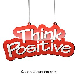 red vector background think positive