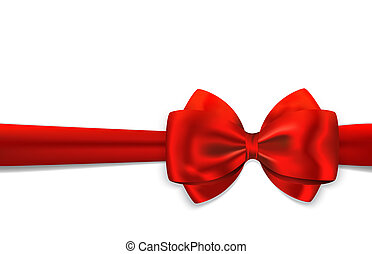 Red gift ribbon and bow - Red gift ribbon with luxurious bow...