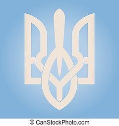 Decorative Ukrainian Trident - Vector Decorative Ukrainian...