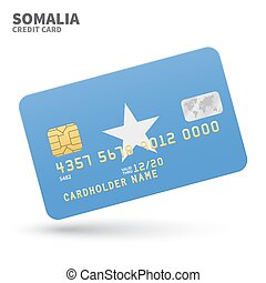 Credit card with Somalia flag background for bank,...