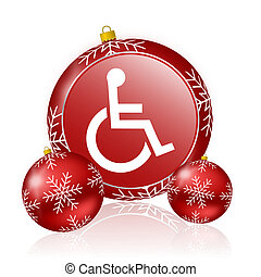 wheelchair christmas icon