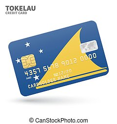 Credit card with Tokelau flag background for bank,...