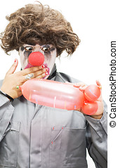 Naughty Thoughty - A Clown Gasps In Shock After Creating A...