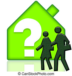 Real Estate - People looking for new house and thinking...