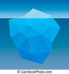 Iceberg abstract vector illustration