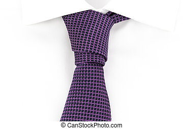 Prince Albert Knot - purple tie knotted the asymmetric...