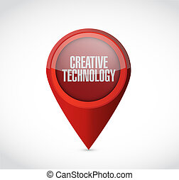 creative technology pointer sign concept