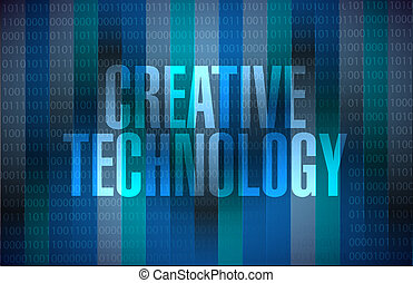 creative technology binary sign concept