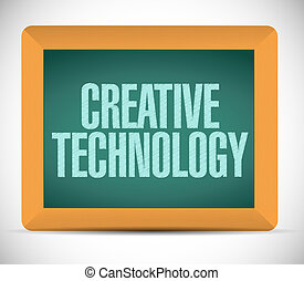 creative technology board sign concept